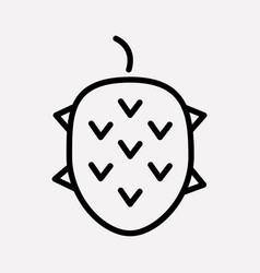 lychee icon line element of vector image