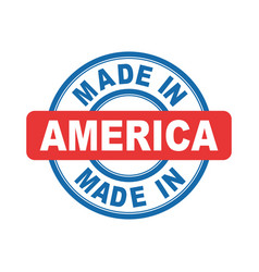 made in america emblem flat vector image