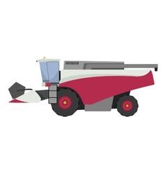 Modern red combine harvester vector image