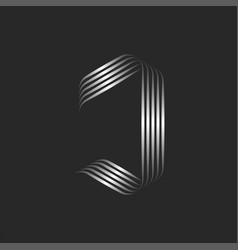 monogram j letter logo calligraphic emblem made vector image