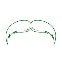 Mustache culture traditional cinco de mayo mexican vector