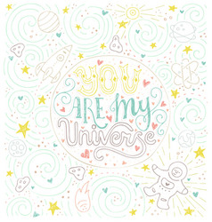 my universe vector image
