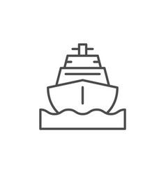 nautical vessel line outline icon vector image