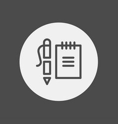 note icon sign symbol vector image