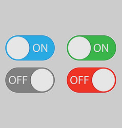 On and off switch toggle isolated onbackground vector