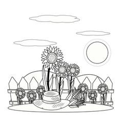 outdoor scene cartoon vector image