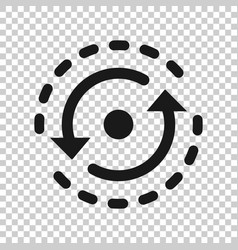 Oval with arrows icon in transparent style vector