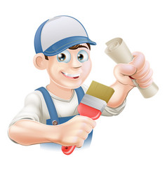 Painter decorator training vector