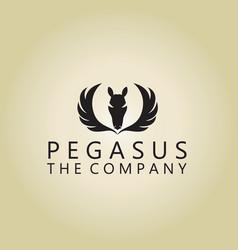 Pegasus logo ideas design vector