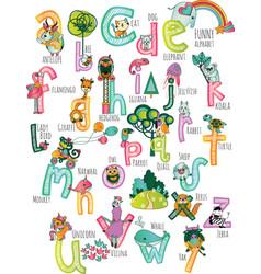 Poster children room education letters alfabet vector