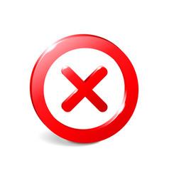 Prohibit sign 3d empty template vector