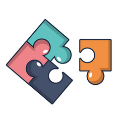 Puzzle icon cartoon style vector