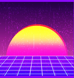 Retro background 80s design vector