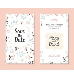 Romantic cards template vector image