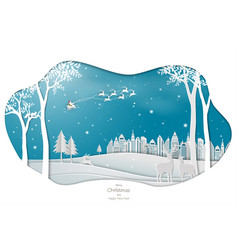 santa clause coming to town on blue background vector image
