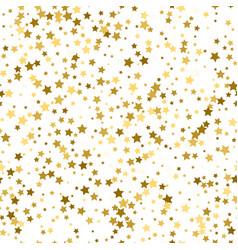 Scandinavian seamless pattern with gold stars vector