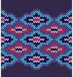 Seamless Ornamental Style Knitted Pattern vector