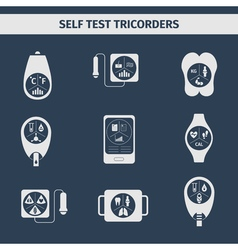 Self test tricorders vector