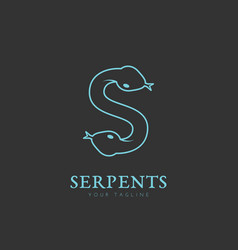 Serpents logo vector