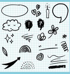 Set hand drawn design elements vector