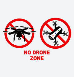 set of no drone zone sign vector image