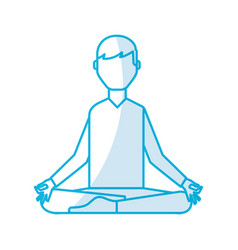 shadow lotus pose cartoon vector image