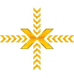 shiny arrow vector image vector image