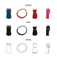 T-shirt beads summer women sarafan on straps vector