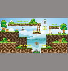 Tile set platform for game 29 vector