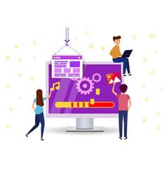 Update software to your computer team work vector