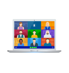 video conference online meeting work form home vector image