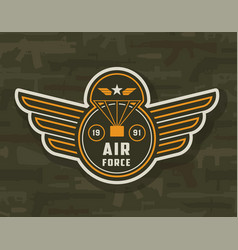 Vintage air forces colorful insignia vector