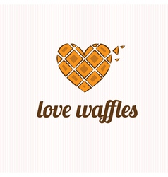 waffles in the shape of heart vector image