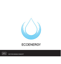 water drop emblem modern logo template vector image