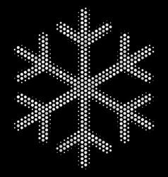 White pixelated snowflake icon vector
