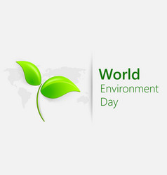 world environment day concept banner for world vector image