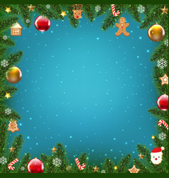 xmas holiday poster vector image