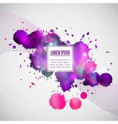 Business template with violet watercolor blots vector image vector image