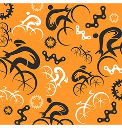 Cycling decorative background vector image vector image