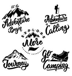 Explore and hiking hand drawn motivation vector