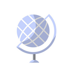 Globe isolated icon in flat style vector