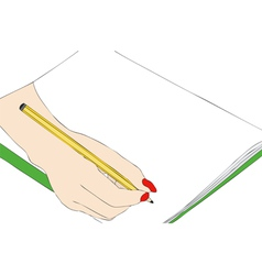 Hand drawing that draws vector image vector image