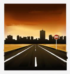 landscape with road vector image vector image
