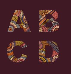 letters set a-d vector image