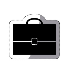 Isolated suitcase design vector image vector image
