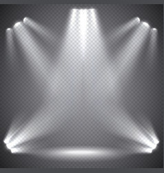 scene illumination transparent effects vector image