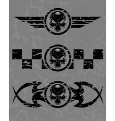 Set of dark skulls vector image vector image