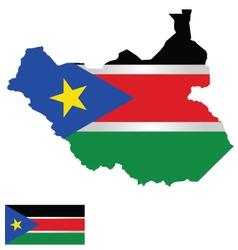South Sudan Flag vector image vector image