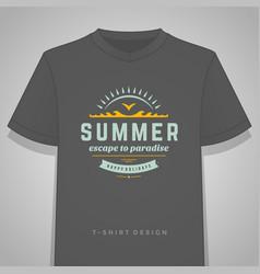 summer holidays typography tee shirt print vector image vector image