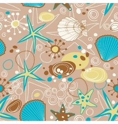 Beach pattern summer background vector image vector image